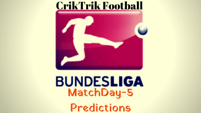bundesliga matchday 5 predictions