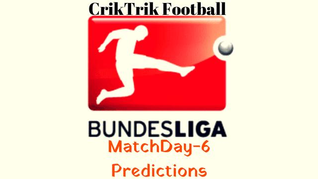 bundesliga matchday 6 predictions