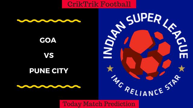 goa vs pune isl 2018 today match prediction