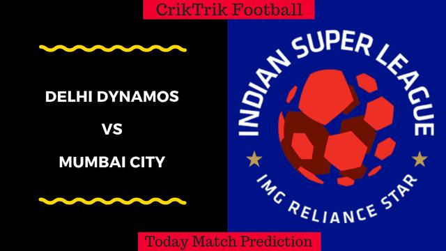 delhi dynamos vs mumbai city match prediction