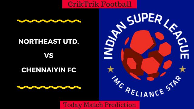 NorthEast Utd. vs. Chennaiyin FC ISL match prediction