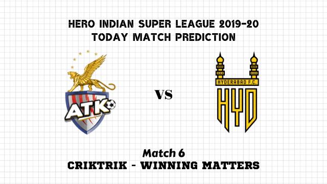 atk vs hyd match6 prediction - ATK vs Hyderabad Today Match Prediction – ISL 2019-20
