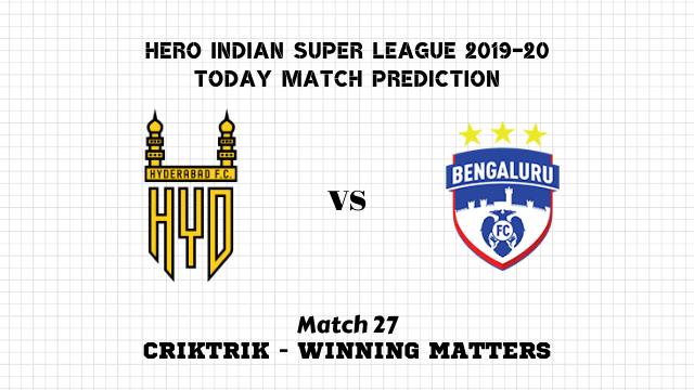hyderabad vs bengaluru prediction match27 - Hyderababd vs Bengaluru Today Match Prediction – ISL 2019-20