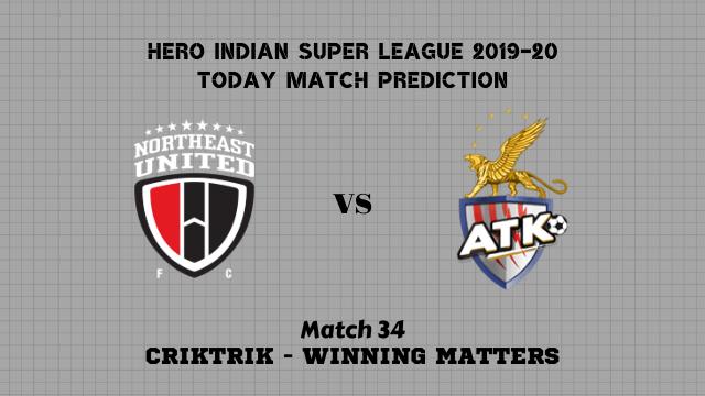 neufc vs atk prediction match34 - NorthEast Utd vs ATK Today Match Prediction – ISL 2019-20