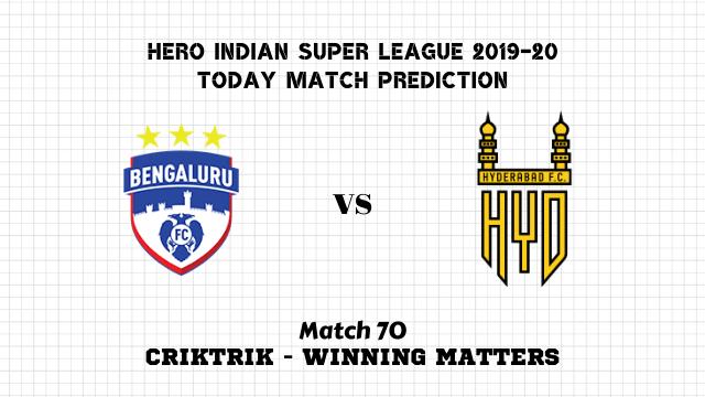 bfc vs hfc prediction match70 isl2019 20 - Bengaluru FC vs Hyderabad FC Today Match Prediction – ISL 2019-20