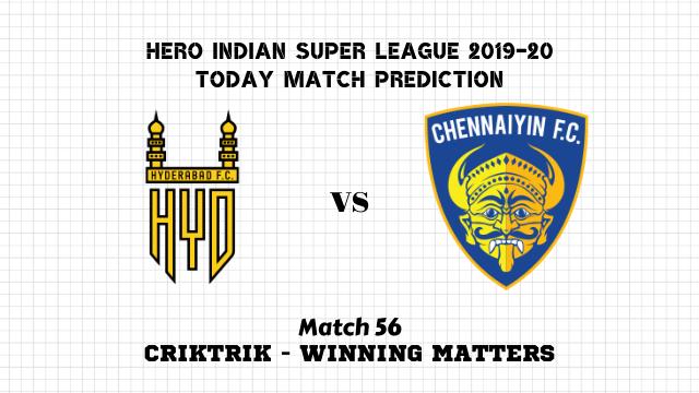 hfc vs cfc prediction match56 - Hyderabad FC vs Chennaiyin FC Today Match Prediction – ISL 2019-20