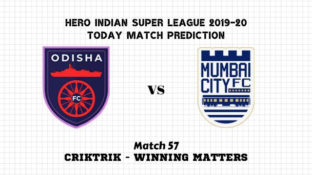 ofc vs mcfc prediction match57 - Odisha FC vs Mumbai City FC Today Match Prediction – ISL 2019-20