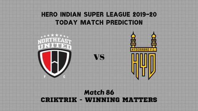 neufc vs hfc prediction isl 2019 20 match86 - NorthEast Utd FC vs Hyderabad FC Today Match Prediction – ISL 2019-20