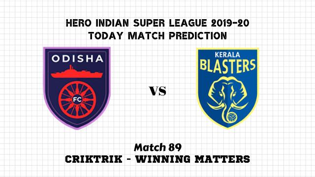 ofc vs kbfc prediction isl 2019 20 match89 - Odisha FC vs Kerala Blasters FC Today Match Prediction – ISL 2019-20